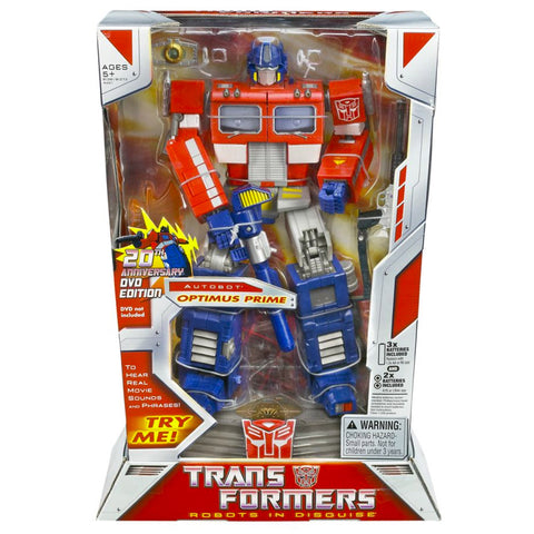 Transformers Classics Masterpiece 20th Anniversary DVD Edition Optimus Prime Box Package USA Hasbro