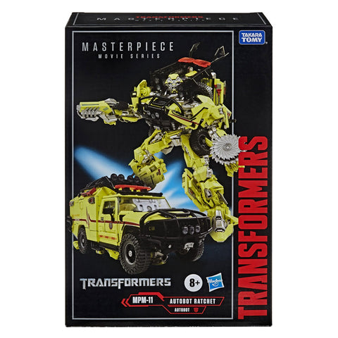 Transformers Movie Masterpiece Series MPM11 Ratchet box package front USA Target Hasbro