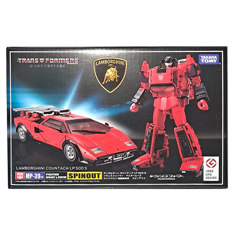 Transformers Masterpiece MP-39+ Spinout Red Diaclone Japan TakaraTomy box package front