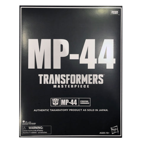 Transformers Masterpiece MP-44 Optimus Prime Convoy USA Hasbro black slip sleeve package box