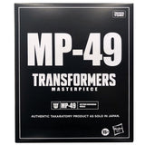 Transformers Masterpiece MP-49 Nemesis Prime Black Convoy Hasbro USA Box Black Sleeve Mockup