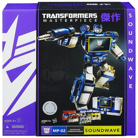 Transformers Masterpiece MP-02 Soundwave Decepticon Communications Box Package Front USA Hasbro Toys r Us