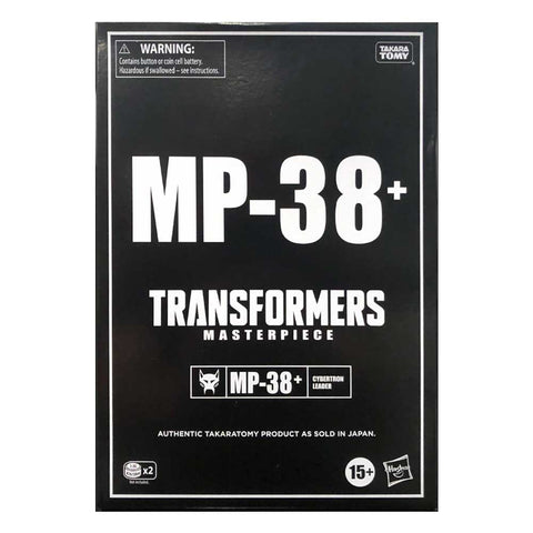 Transformers Masterpiece MP-38+ Burning Convoy Beast Wars Hasbro USA Black Sleeve box package front