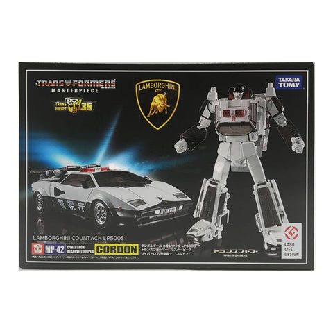 Transformers Masterpiece MP-42 Cordon White Sunstreaker Police car box package front