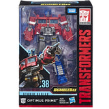 Transformers Studio Series 38 Voyager G1 Optimus Prime Box Package Front Stock Photo