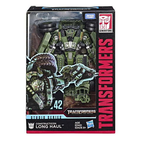 Transformers Movie Studio Series 42 Voyager ROTF Constructicon Long Haul Box Packaging