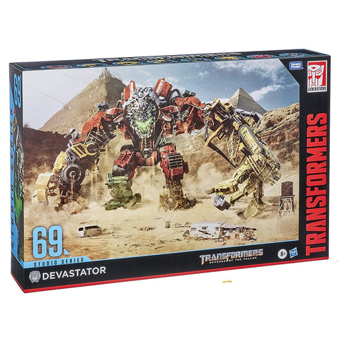 Transformers Movie Studio Series 69 Devastator ROTF constructicon titan giftset box package angle