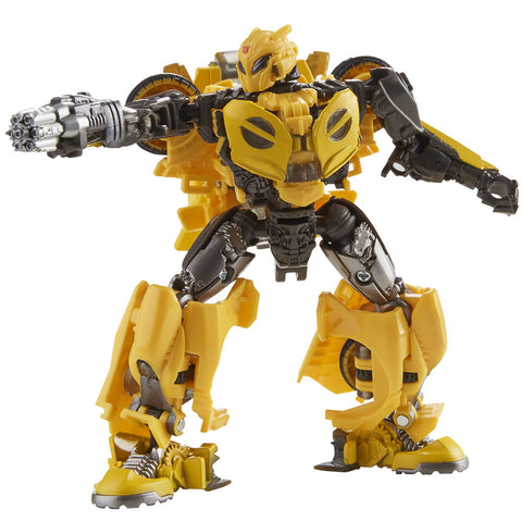 Transformers Movie Studio Series 70 Deluxe B-127 Cybertronian Bumblebee action figure toy robot blaster