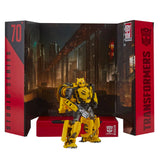 Transformers Movie Studio Series 70 Deluxe B-127 Cybertronian Bumblebee action figure toy robot backdrop display