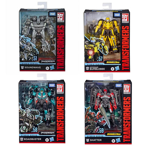 Transformers Movie Studio Series Deluxe Wave 7 Full Set Bundle of 4 Box packaging front