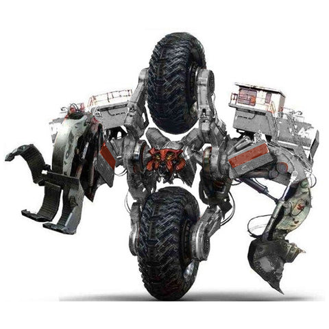 Transformers Movie Studio Series Constructicon Demolisher White vehicle ROTF concept art guess