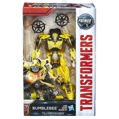 Transformers Movie The Last Knight Premier Edition Deluxe Bumblebee USA Hasbro Box Package Front