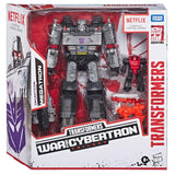 Transformers Netflix War for Cybertron Trilogy Megatron 3-pack Captive Lionizer Pinpointer Box Package Front