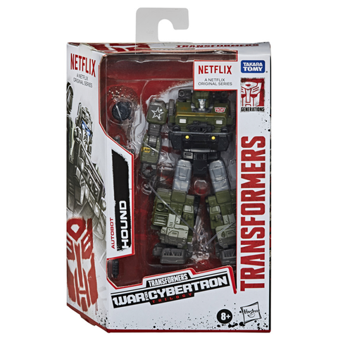 Transformers Netflix War for Cybertron Deluxe Hound Box Package Front