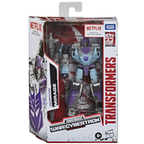 Transformers Netflix War for Cybertron Deluxe Decepticon Mirage Box Package