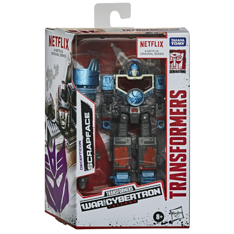 Transformers Netflix War For Cybertron Trilogy Decepticon Scrapface Box Package Front