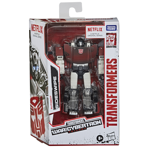 Transformers Netflix War for Cybertron Trilogy Deluxe Sideswipe Box Package Front