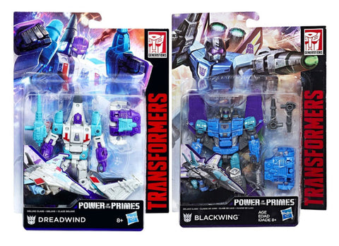 Transformers Power of the Primes Deluxe Dreadwind & Darkwing set MISB