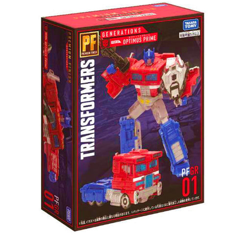 Transformers Generations Premium Finish PF GR 01 Voyager Siege Optimus Prime japan takaratomy box package front angle low res