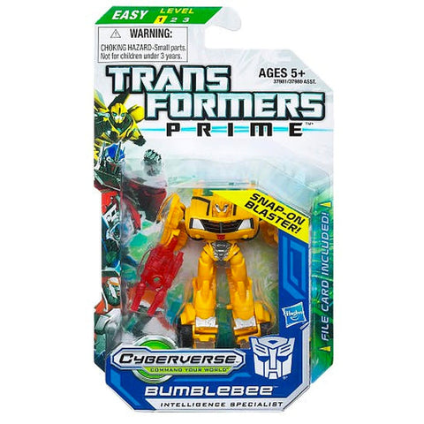 Transformers Prime Cyberverse Legion Class 2 001 Bumblebee Intelligence Specialist snap-on blaster Snap-on Blaster Box Package Front