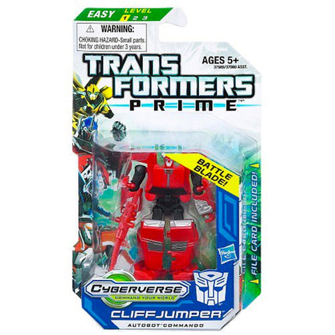 Transformers Prime Cyberverse Legion Class 2 005 Cliffjumper Autobot Commando Battle Blade Box Package Front