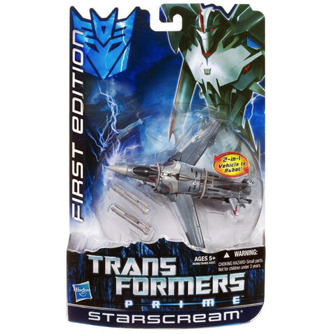 Transformers Prime FIrst Edition Deluxe Starscream Hasbro USA Box Package Front Second Run