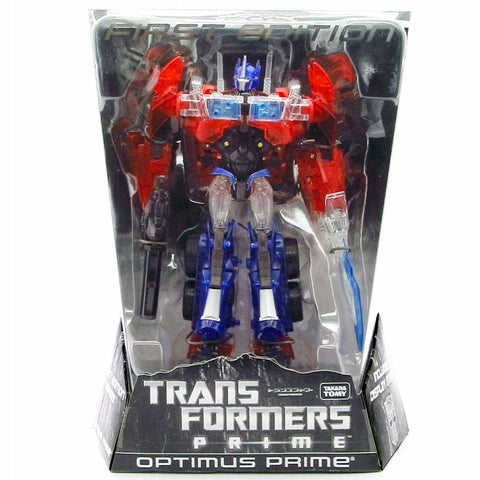 Transformers Prime First Edition Voyager Shining Optimus Prime Clear Translucent TakaraTomy Japan Box Package Front