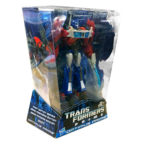 Transformers Prime First Edition 001 Voyager Optimus Canada Multilingual Box Package angle