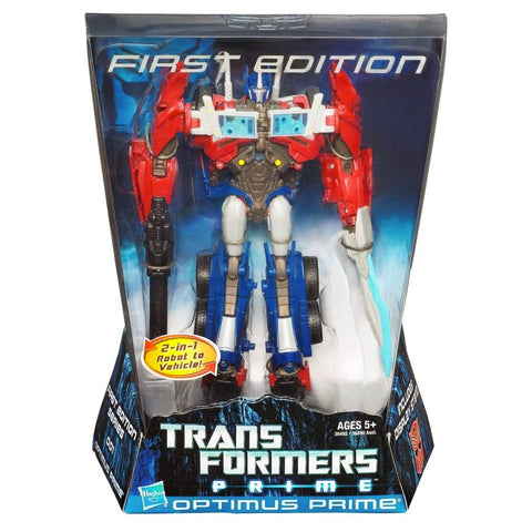 Transformers Prime First Edition Optimus Prime Voyager Hasbro Box Package Front