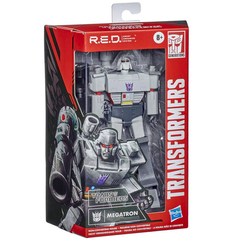 Transformers R.E.D. Series G1 Megatron 6-inch box package angle