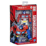Transformers R.E.D. Series G1 Optimus Prime 6-inch box package angle