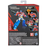 Transformers R.E.D. Series G1 Optimus Prime 6-inch box package back