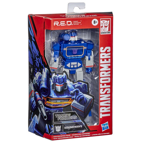 Transformers R.E.D. Series G1 Soundwave 6-inch box package angle
