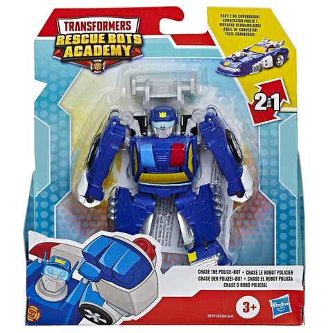 Transformers Rescue Bots Academy Chase The Police-bot box package front