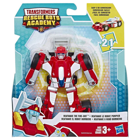 Transformers Rescue Bots Academy Heatwave the fire-bot race car box package front