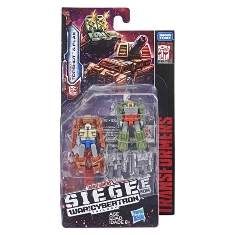 Transformers War For Cybertron Siege Autobot Topshot Flak Micromaster Battle Patrol Box