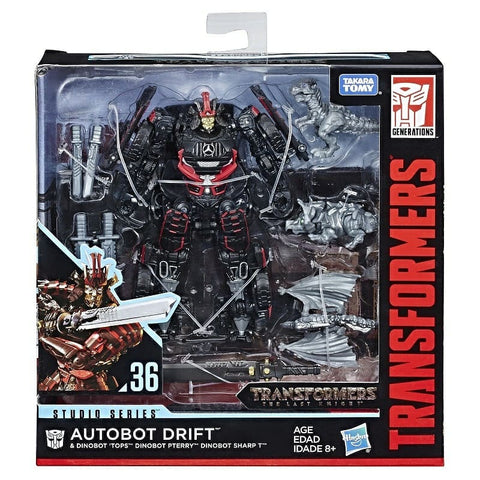 Transformers Movie Studio Series 36 Deluxe Class Drift and baby dinobots The Last Knight TLK Box Package Front