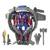 Transformers Movie Studio Series 44 Leader Class DOTM Optimus Prime Trailer weapons