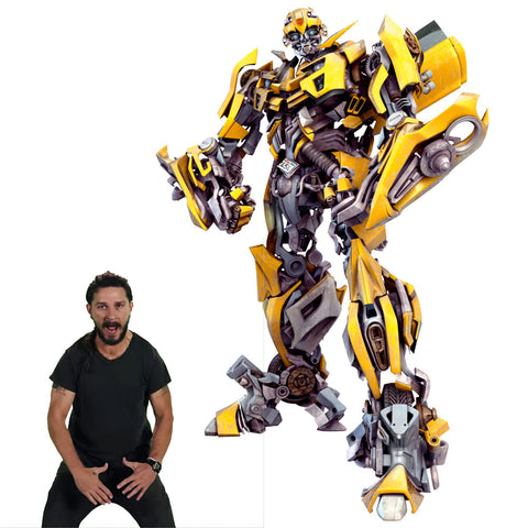 Transformers Studio Series Bumblebee with Sam ROTF character art