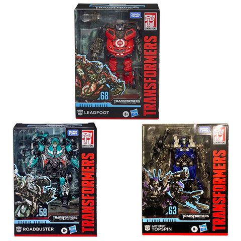 Transformers Studio Series Wrecker Leadfoot Topspin Roadbuster 3-Figure Bundle