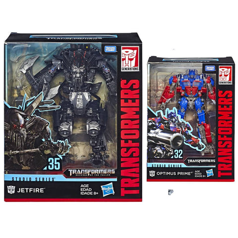 Transformers Movie Studio Series ROTF Revenge of the Fallen Jet-Power Optimus Prime Jetfire Package Box Bundle