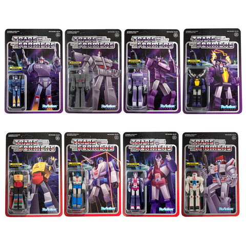 Transformers Super7 ReAction Wave2 complete set of 8 toys MISB Box Package
