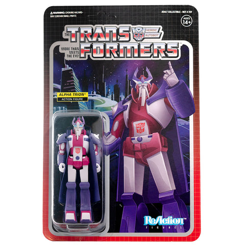 Super 7 Transformers G1 Alpha Trion ReAction Figure Box Package Front