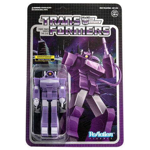 Super 7 Transformers G1 Shockwave Reaction Box Package Front