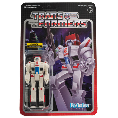 Super 7 Transformers G1 Skyfire Jetfire Reaction Box Package Front