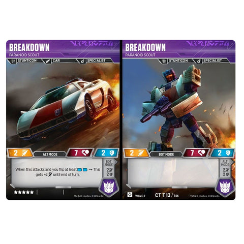 Transformers TCG Card Game Breakdown Paranoid Scout Character Combiner