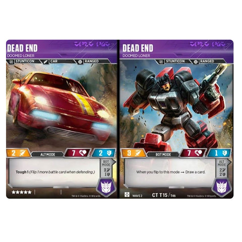 Transformers TCG Card Game Dead End Doomed Loner Combiner