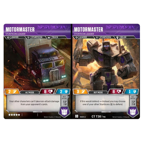 Transformers TCG Card Game Motormaster Stunticon Leader Combiner