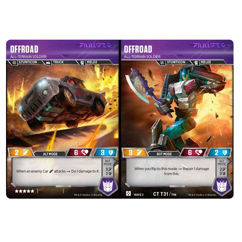 Transformers TCG Card game Offroad All-Terrain Soldier Combiner