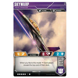 Transformers TCG Card Game Wave 1 Skywarp Sneaky Prankster Jet Back